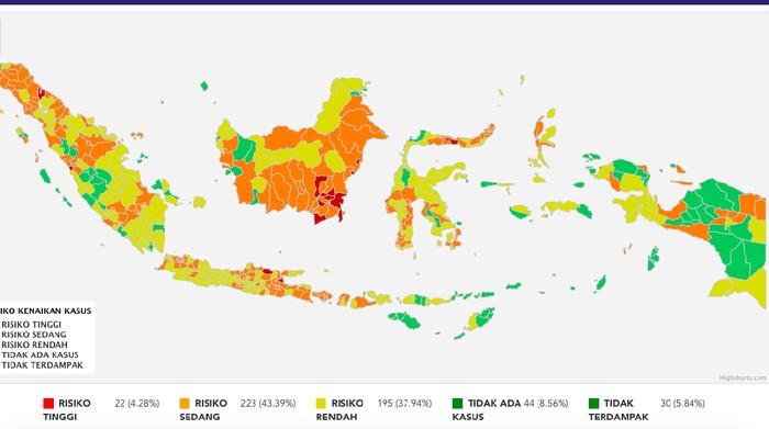 Daftar Lengkap Zona Corona di Indonesia Per 23 Agustus ...
