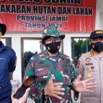 Lahan Bekas Kebakaran Seluas 35 Ribu Hektar di Kumpeh Ulu Akan dijadikan Tempat Latihan TNI AD
